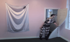 dot warp with door 2014 webcam video 54 secs. Petra Cortright. Cam Worls. UTA Artist Space. Photo Courtesy UTA