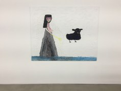 Ecaterina Vrana, Princess with Black Sheep, Nicodim Gallery, Photo credit: Shana Nys Dambrot.