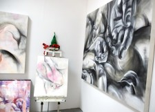 JIan Liang at CGU Open Studios. Photo credit: Kristine Schomaker.