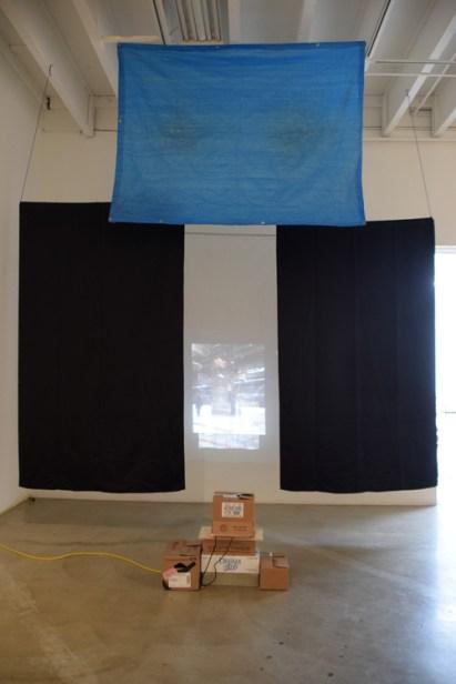 Leslie Frank at CGU Open Studios. Photo credit: Kristine Schomaker.