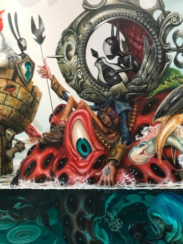 Greg 'Craola' Simkins: The Escape Artist at KP Projects. Photo credit: Genie Davis.