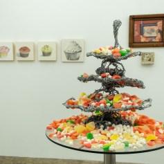 Elizabeth Tinglof (foreground) PØST: Kamikaze - Let Me Eat Cake. Photo credit Debe Arlook