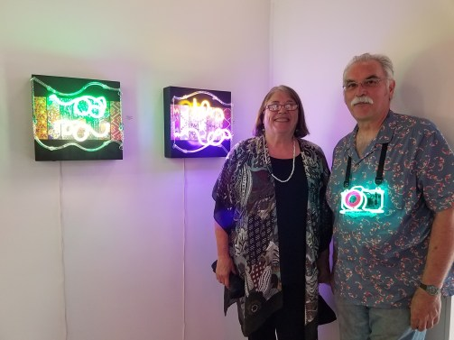 Linda Sue Price and Michael Flechtner. All Lit Up. Eastern Projects. Photo Courtesy Kristine Schomaker