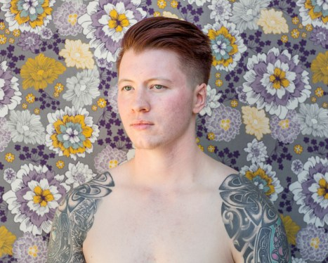 Wallflower 2, Rowan, Appling, GA. 2016, Amy Elkins, Photographs of Contemporary Masculinity at Orange Coast College, Frank M. Doyle Arts Pavilion. Photo courtesy of the gallery.