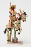 Willard Hill, Untitled (Cowboy Orange Fringe Riding Horse), no date, masking tape-mixed media. Photo courtesy of the gallery.