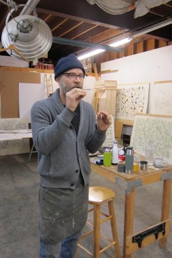 Studio Visit: Kiel Johnson. Photo credit: Gary Brewer.