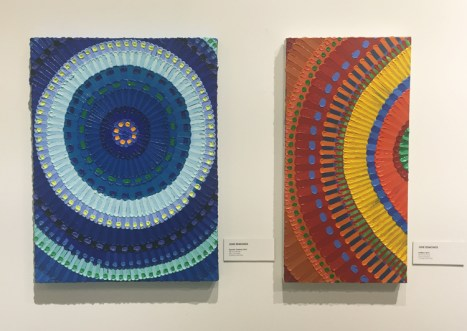 June Edmonds in Polychromatic Mojo / Color as Content at Cerritos College Art Gallery. Photo credit: Lorraine Heitzman.