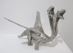 Esterio Segura, Dragon Metal in of Machines and Men at saltfineart. Photo courtesy of the gallery.