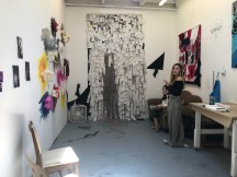 Claremont Graduate University MFA Open Studios. Zi Zhuang. Photo credit: Chelsea Boxwell.