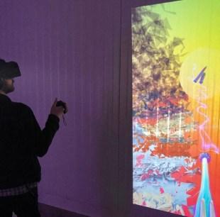 """Still of VR Artwork by Tonia Beglari called """"Good Girl"""" for FEMMEBIT at Spring/Break Art Fair, 2019; Image courtesy of Janna Avner"""