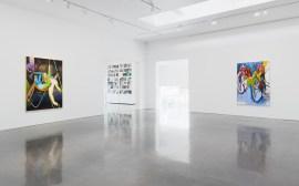 Installation view of Daniel Richter H.P. (jah allo) at Regen Projects, Los Angeles June 29 - August 17, 2019 Photo: Marten Elder, Courtesy Regen Projects, Los Angeles