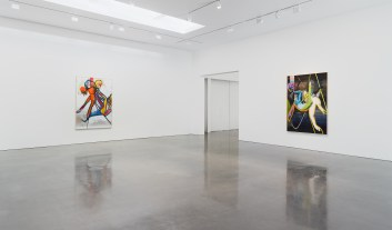 Installation view of Daniel Richter H.P. (jah allo) at Regen Projects, Los Angeles June 29 - August 17, 2019 Photo: Marten Elder, Courtesy Regen Projects, Los Angeles