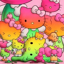 Buff Monster, Rainbow Kitty Harmony, Hello Kitty Show, Corey Helford Gallery; Photo credit Genie Davis