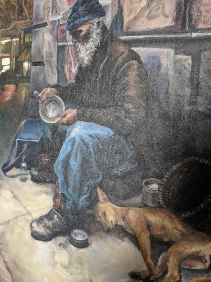 Vanessa Rosa, Homeless man with a dog; Image courtesy of the artist