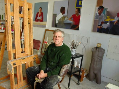 McCleary at work in his studio August 2019; Image courtesy of Art Division