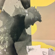 """Detail of """"Watchers and Winks"""" Annie Lapin at Honor Fraser. Photo by Shana Nys Dambrot"""