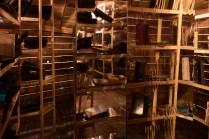 Edgar Arceneaux, Library of Black Lies at MIT. Photo Courtesy of Beta Main. Photo Credit Elon Schoenholz.