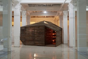 Edgar Arceneaux, Library of Black Lies at The Main Museum. Photo Courtesy of Beta Main. Photo Credit Elon Schoenholz.