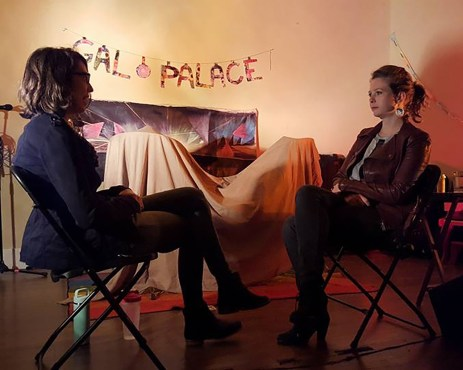 The Head and the Heart. Siobhan Hebron. Twelfth Cycle. March 7th - March 11th, 2016. HOW ARE YOU (with Sydney Snyder), 2016, durational performance at Gal Palace.