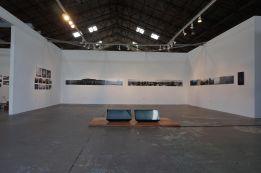 "Transit Republic. Main Room Exhibition Title ""Reading Footprints."" Photo Courtesy of Kio Griffith."