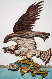 Aaron Johnson. Fish Hawk. Birds of America: Explorations of Audubon: The Paintings of Larry Rivers and Others. Photo Courtesy of 101/Exhibit.