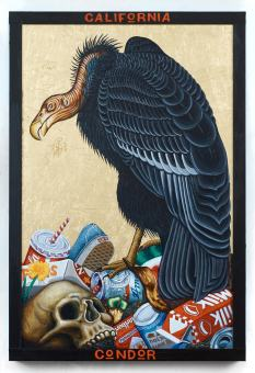 Tom Sanford. California Condor. Birds of America: Explorations of Audubon: The Paintings of Larry Rivers and Others. Photo Courtesy of 101/Exhibit.