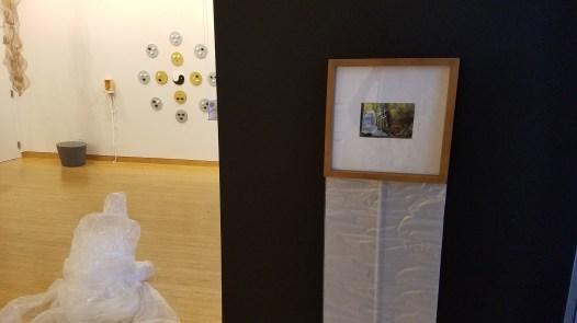Takeshi Kanemura. Masaru, 2017. Plastic Sheet, packing tape, photograph. Parallels: Medicine = Art. Crafton Hills College Art: Eyes on Healing. Crafton Hills College Art Gallery. Photo Credit Jacqueline Bell Johnson.