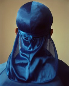 John Edmonds Untitled (Du-Rag 3), 2017 Archival pigment print on Japanese silk. Photo Courtesy of ltd los angeles.