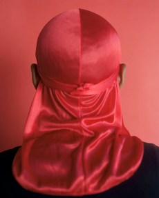 John Edmonds Untitled (Du-Rag 5), 2017 Archival pigment print on Japanese silk. Photo Courtesy of ltd los angeles.