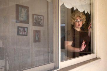 Neighborhood Watch. Genevieve Gaignard. The Powder Room. Photo Courtesy of Shulamit Nazarian Gallery.