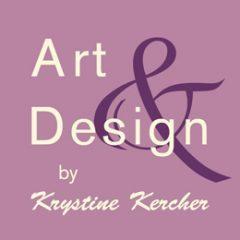 ArtandDesign website logo in mauve and cream.