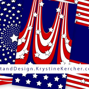 I also found some patriotic artwork that I'd created. Click through to shop my patriotic designs on Zazzle.