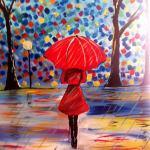 Fata cu umbrela