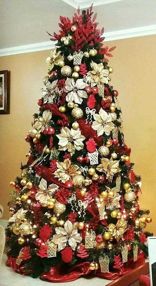 Lovely Poinsettia Christmas Tree