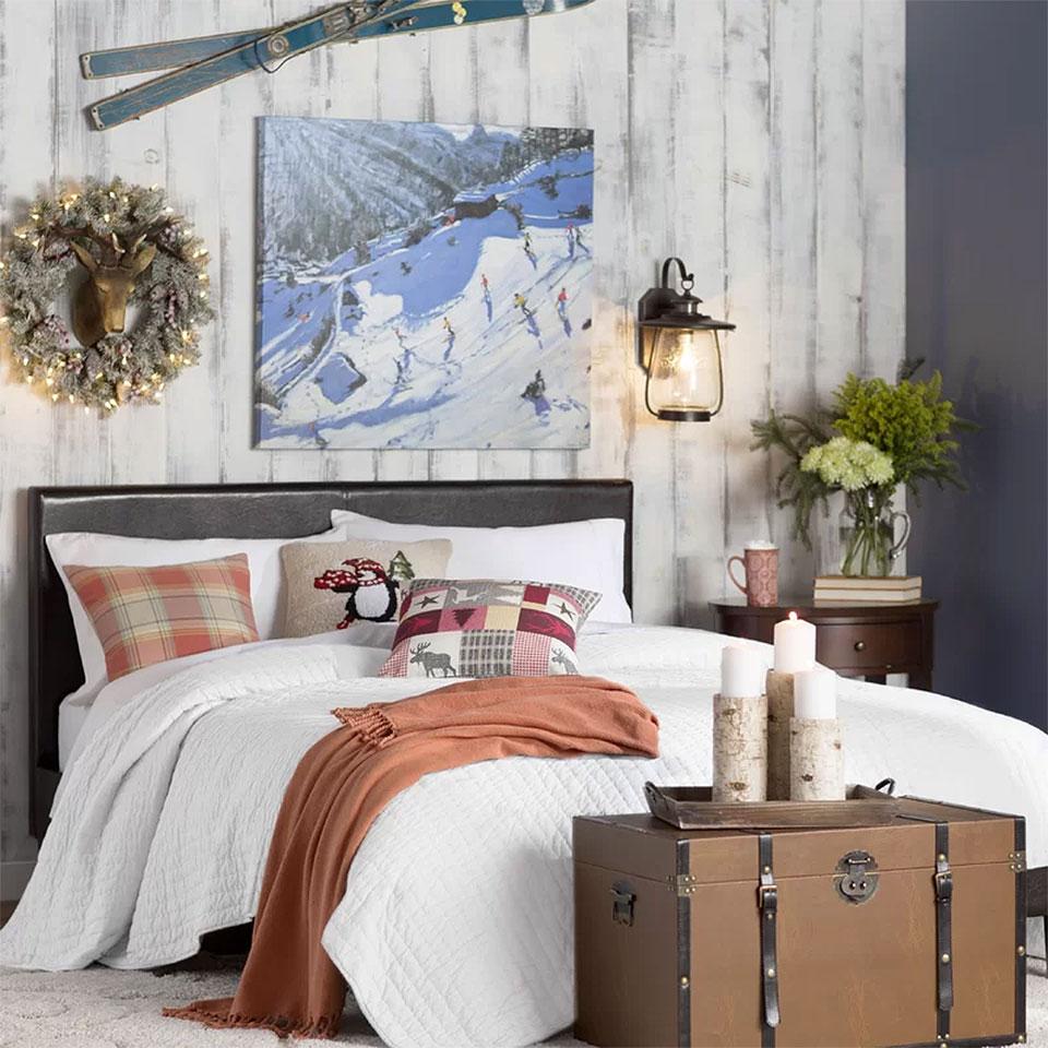 Cool Rustic Christmas Bedroom