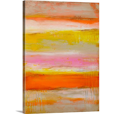 Sherbet Summer Love by Erin Ashley Art Print on Canvas