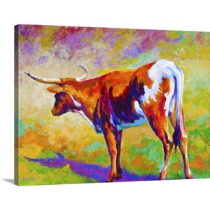 Longhorn by Marion Rose Art Print on Canvas