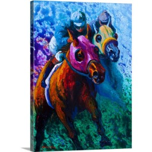 Blue Bloods by Marion Rose Art Print on Canvas