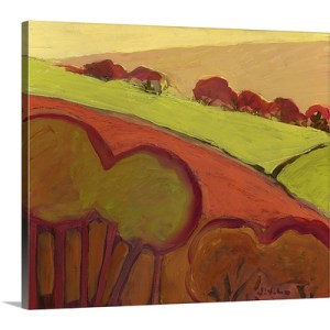The Valley of Gold by Jennifer Lommers Art Print on Canvas