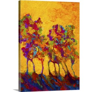 Abstract Landscape by Marion Rose Art Print on Canvas