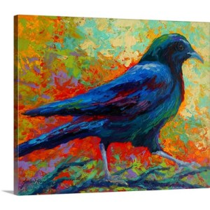 Crow I by Marion Rose Painting on Canvas