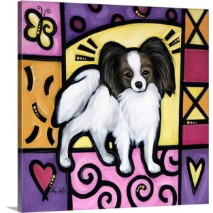 Papillon Pop Art by Eric Waugh Painting Print on Canvas