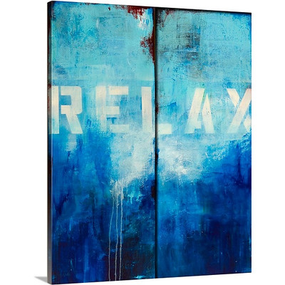 Relax by Erin Ashley Art Print on Canvas