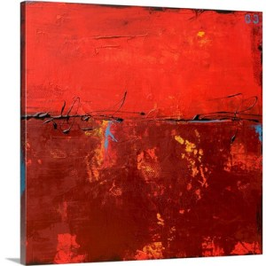 Red Moon Dawn by Erin Ashley Art Print on Canvas