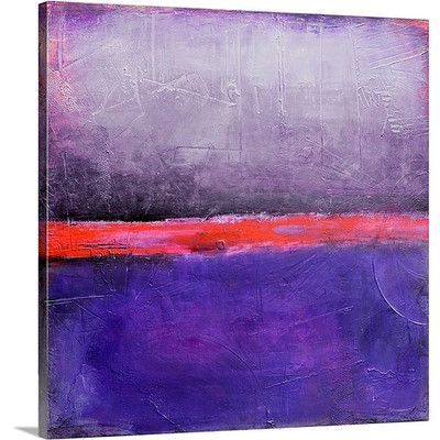 Purple Passion by Erin Ashley Art Print on Canvas
