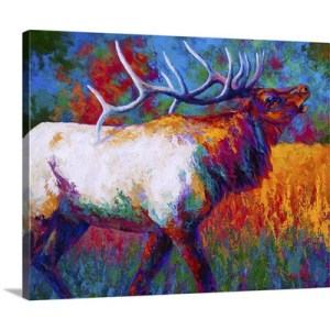 Autumns Chorus Elk by Marion Rose Art Print on Canvas