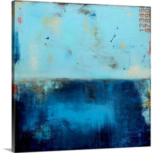 Blue Velvet by Erin Ashley Art Print on Canvas