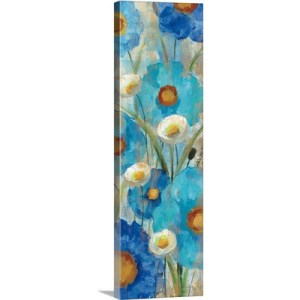 Sunkissed Blue and White Flowers I by Silvia Vassileva Art Print on Canvas
