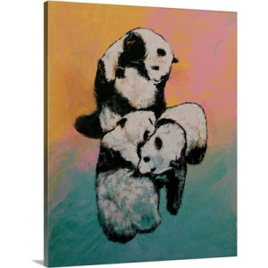 Panda Street Fight by Michael Creese Art Print on Canvas