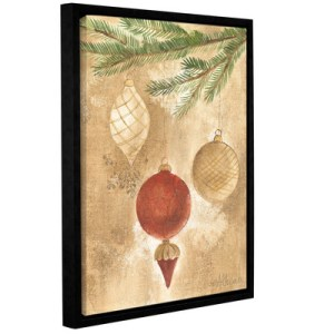 Alcott Hill Christmas Ornaments Framed Painting Print on Wrapped Canvas